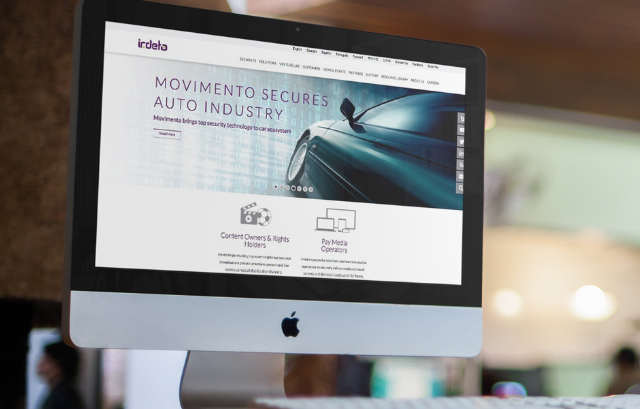 irdeto website, branding