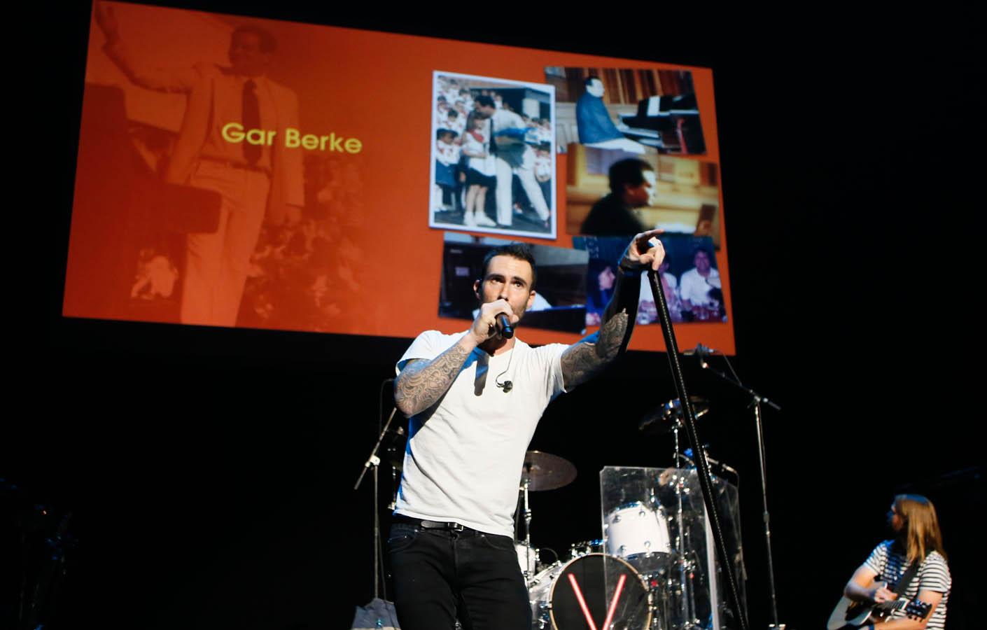 Adam Levine honoring Gar Burke